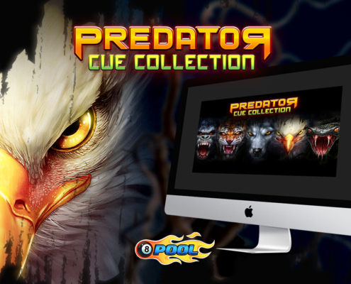 predator cue collection miniclip 8ball pool